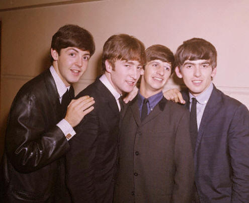 The Beatles: Paul McCartney, John Lennon, Ringo Starr and George Harrison