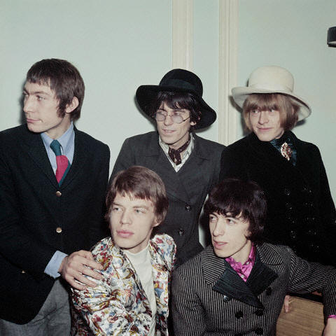 The Rolling Stones: Mick Jagger, Bill Wyman, Charlie Watts, Keith Richards, Brian Jones
