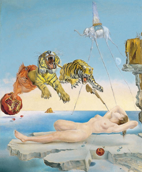 Salvador Dali One Second Before Awakening from a Dream Caused by the Flight of a Bee Around a Pomegranate, 1944